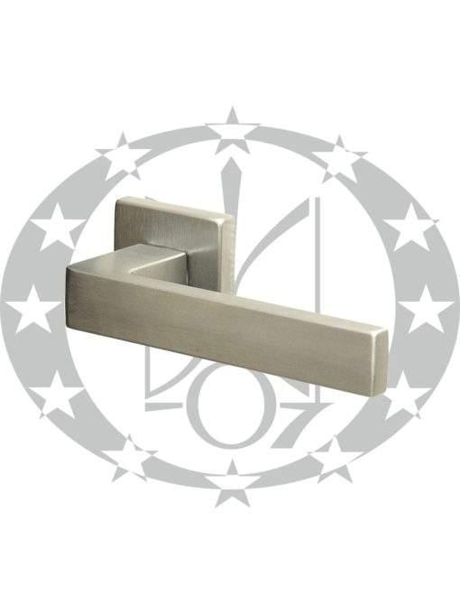 Ручка дверна DND QUATTRO 02-Z VIS квадратна розета PZ ZCS хром сатин