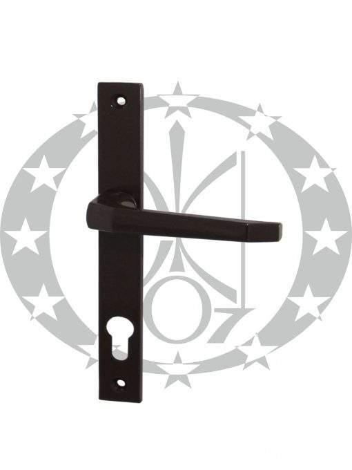 Ручка дверна Czestochowa K-90 ST-27 92 PZ фарбована коричнева