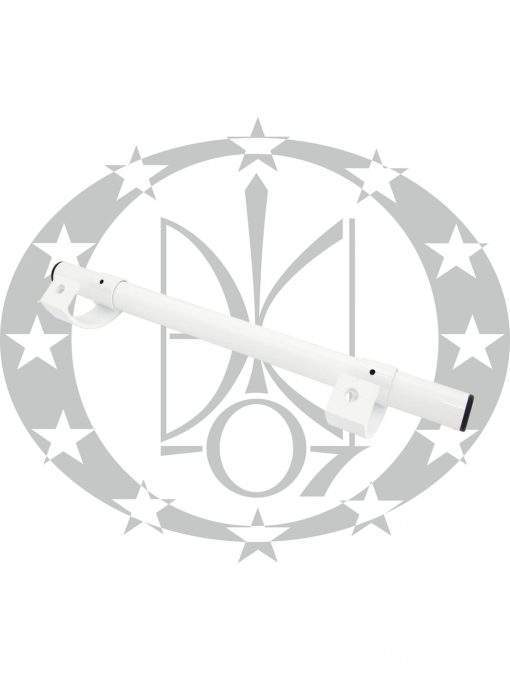 Антаба Октава Пласт на металопластикові двері пряма біла (30/500mm)