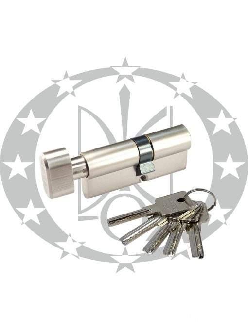 Серцевина GERDA H-PLUS 45/30 горизонтальний ключ вороток нікель сатин