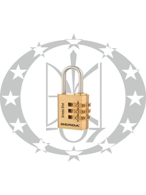 Кодовий навісний замок колодка GERDA KMS2030 S-20