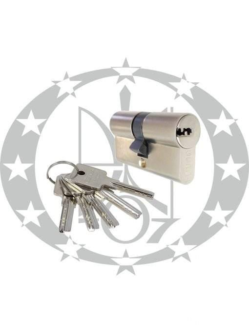 Серцевина GERDA H-PLUS 30/40 горизонтальний ключ нікель сатин
