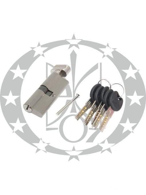 Серцевина IMPERIAL ZCK горизонтальний ключ 30/40 вороток нікель