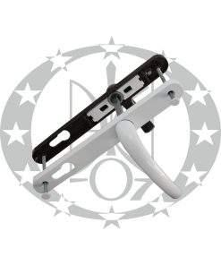 Ручка з пружиною САФІР вузька 25 мм 85 PZ біла/коричнева (KP5151.31/35)