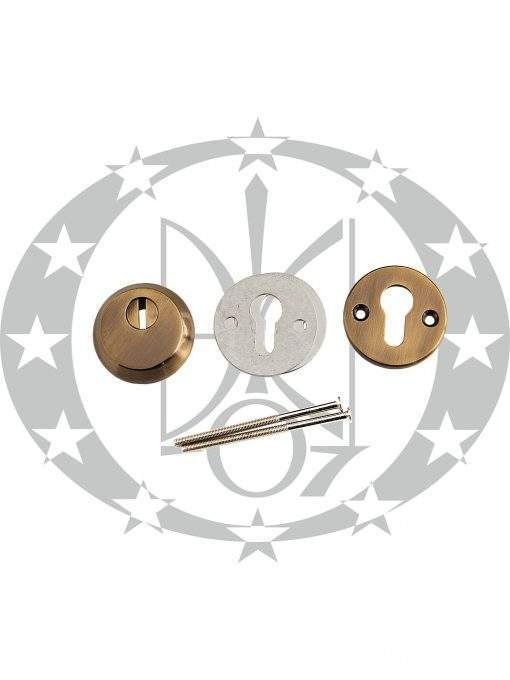 """Кругла противзломна дверна накладка """"PROTECT"""" PT-12 бронза"""