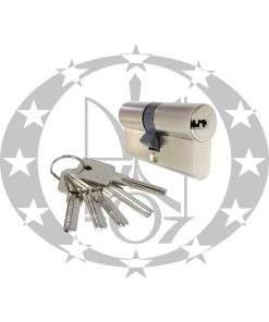 Серцевина GERDA H-PLUS 30/35 горизонтальний ключ 5 ключів нікель сатинований