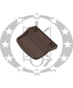Ручка на пластикові двері LOB зовнішня коричнева (RAL8019)