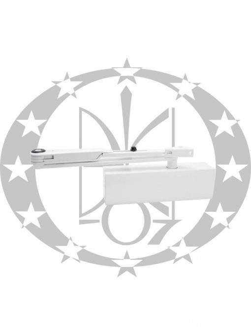Амортизатор дверний з важільною тягою з фіксацією GEZE TS2000 V білий