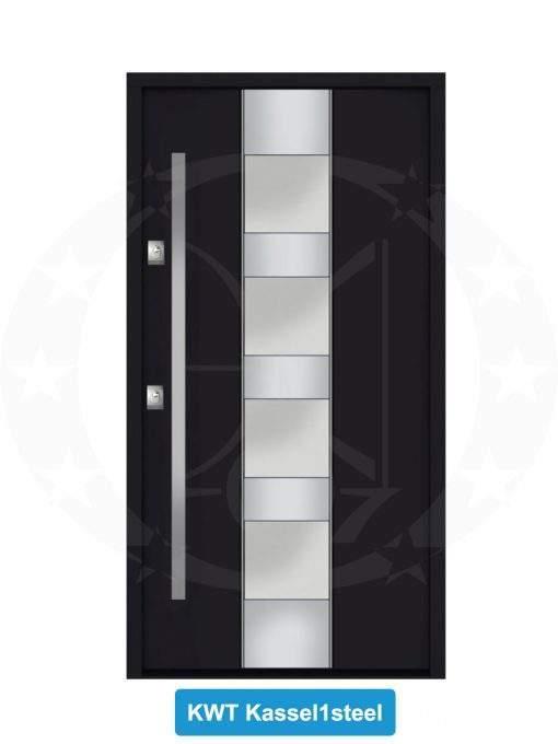 Двері вхідні металеві GERDA NTT60 QUADRO KWT Kassel 1 Steel
