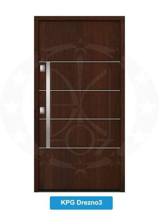 Двері вхідні металеві GERDA NTT60 QUADRO KPG Drezno 3