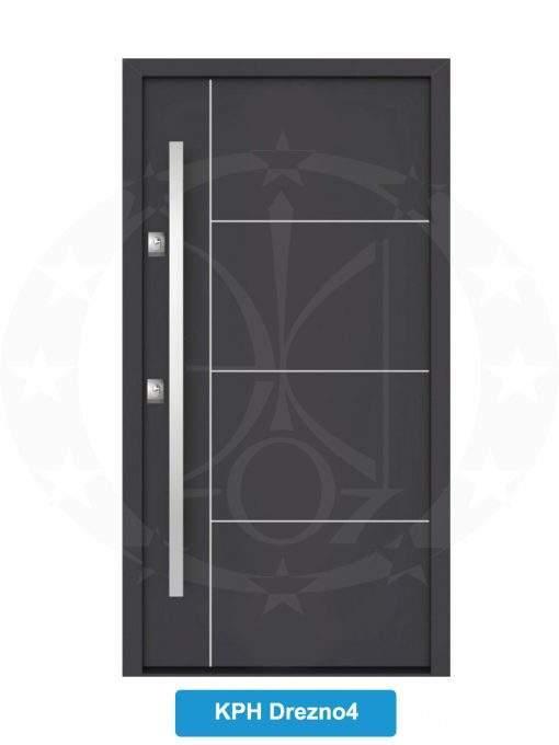 Двері вхідні металеві GERDA NTT60 QUADRO KPH Drezno 4