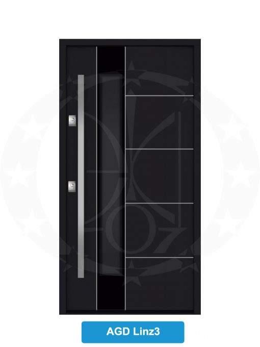 Двері вхідні металеві GERDA NTT75 AIR GLASS AGD Linz 3