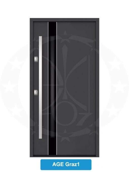 Двері вхідні металеві GERDA NTT75 AIR GLASS AGE Graz 1