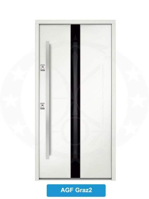 Двері вхідні металеві GERDA NTT75 AIR GLASS AGF Graz2