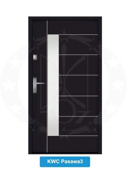 Двері вхідні металеві GERDA NTT75 QUADRO KWC Pasawa 3