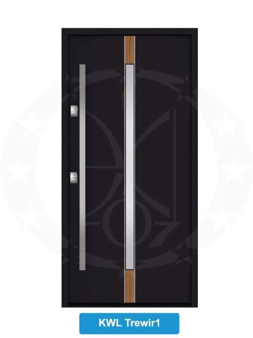 Двері вхідні металеві GERDA NTT75 QUADRO KWL Trewir 1