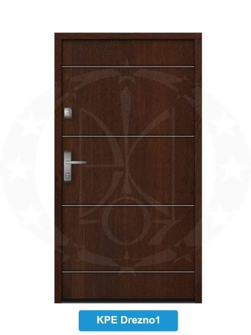Двері вхідні металеві GERDA NTT75 QUADRO KPE Drezno 1