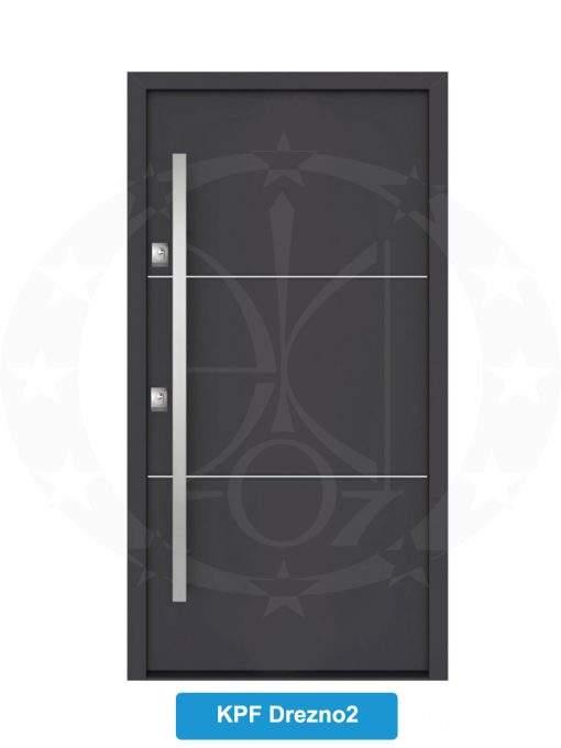 Двері вхідні металеві GERDA NTT75 QUADRO KPF Drezno 2