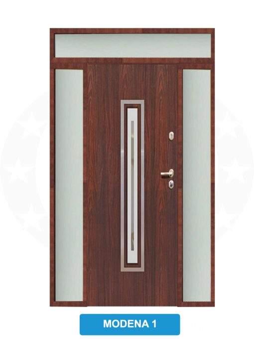 Двері вхідні металеві GERDA TT PLUS Z DOSWIETLAMI Modena 1