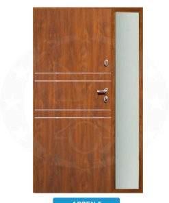 Двері вхідні металеві GERDA TT PLUS Z DOSWIETLAMI Aspen 5