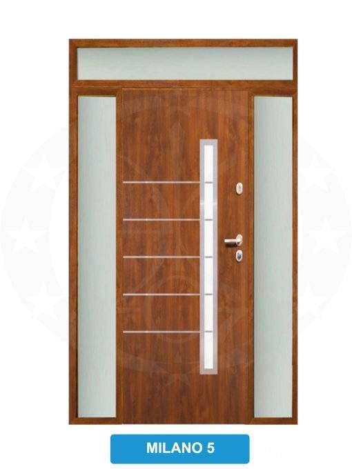 Двері вхідні металеві GERDA TT PLUS Z DOSWIETLAMI MIlano 5