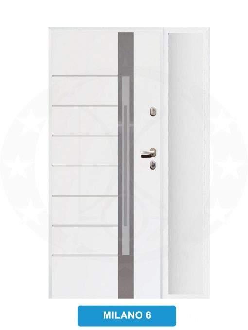 Двері вхідні металеві GERDA TT PLUS Z DOSWIETLAMI Milano 6