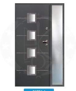 Двері вхідні металеві GERDA TT PLUS Z DOSWIETLAMI Patra 4