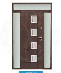 Двері вхідні металеві GERDA TT PLUS Z DOSWIETLAMI Patra 5