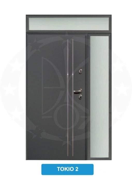 Двері вхідні металеві GERDA TT PLUS Z DOSWIETLAMI Tokio 2