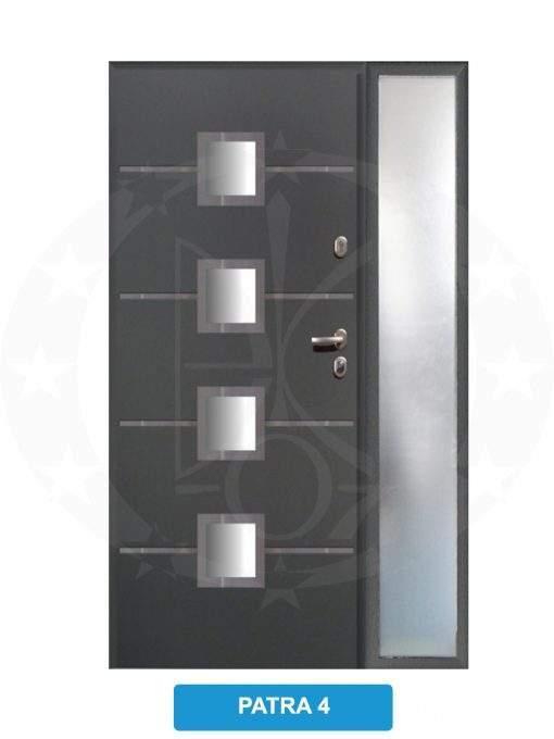 Двері вхідні металеві GERDA TT MAX Z DOSWIETLAMI Patra 4