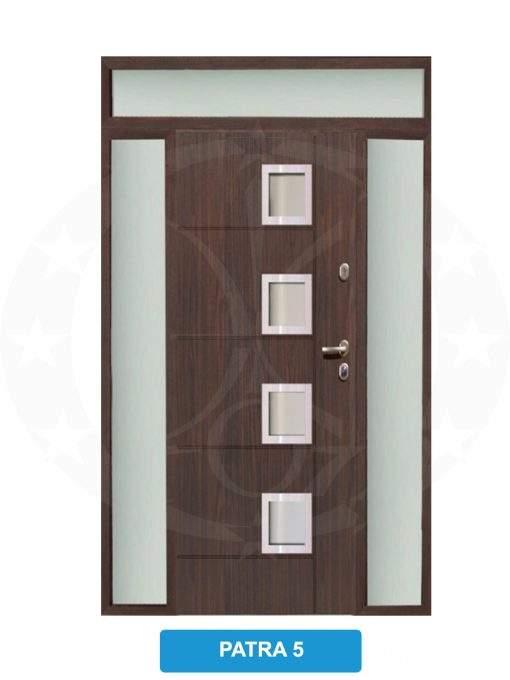 Двері вхідні металеві GERDA TT MAX Z DOSWIETLAMI Patra 5
