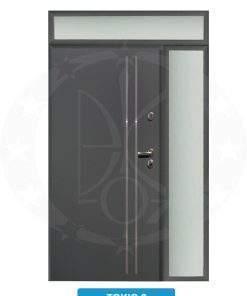 Двері вхідні металеві GERDA TT MAX Z DOSWIETLAMI Tokio 2