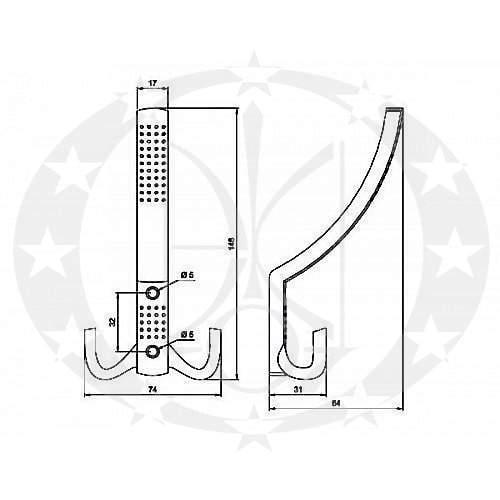 креслення вішак Nomet Z-355-110