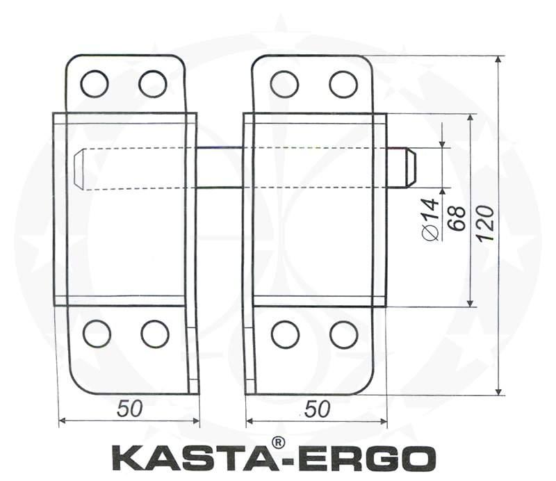 Замок Kasta Ergo креслення розміри