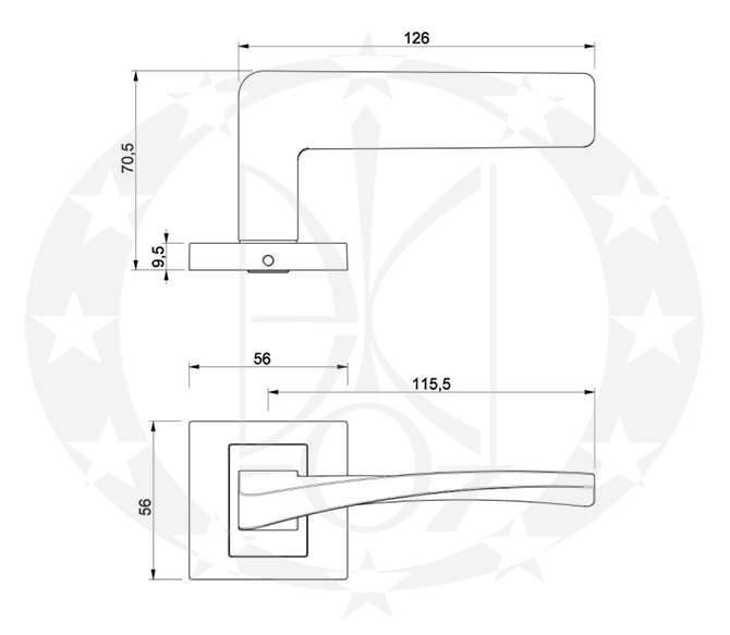 Ручка Nomet KATIA T-1551-121 креслення