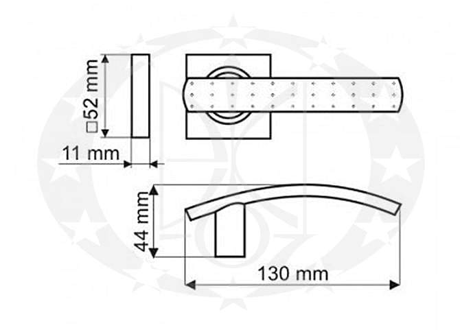 Ручка Gamet CRUX DH-13-22-06-KW креслення
