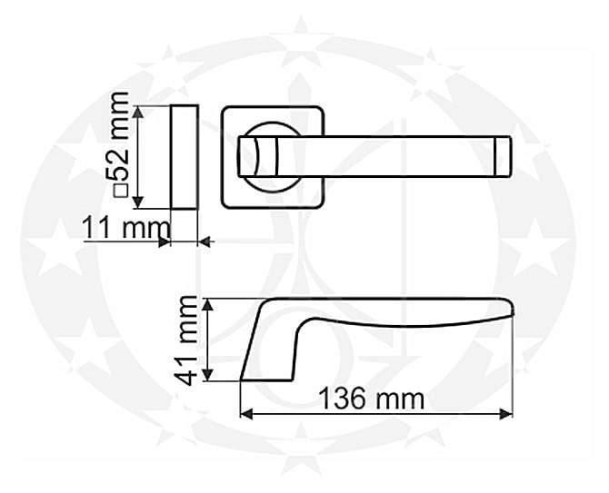 Ручка Gamet CASCADA DH-89A-24Z-08-KW-BL креслення