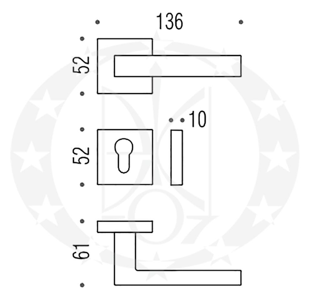 Ручка ELLESSE BD21 RSB креслення