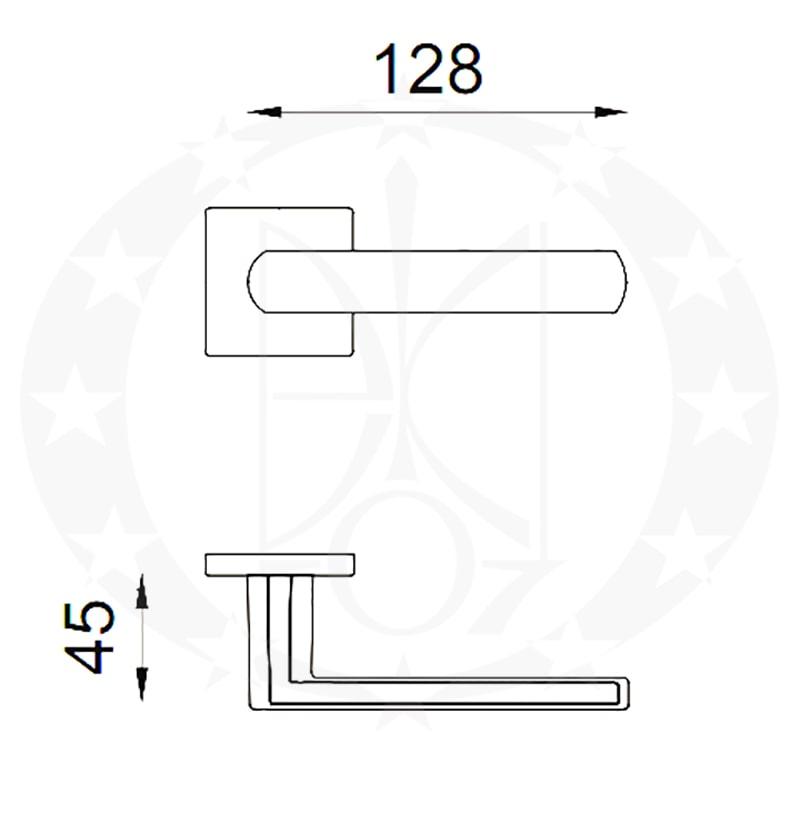 Ручка LUCE 02 PZ матова бронза