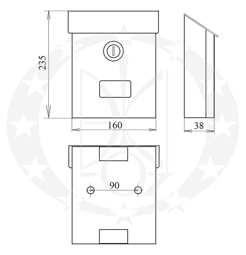 Поштова скринька Галіндустрія сп-12 креслення
