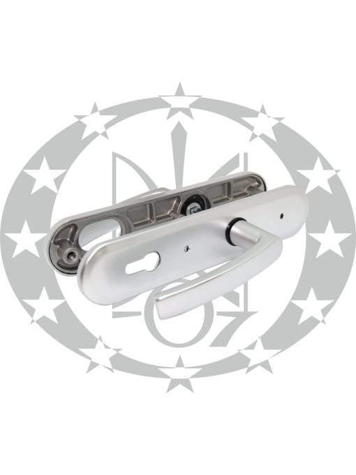 Ручка противзламна GERDA TD - 1000 ANCONA 90PZ анодоване срібло
