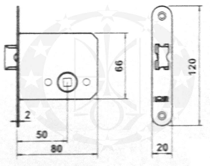 Защіпка LOB Z-050 креслення