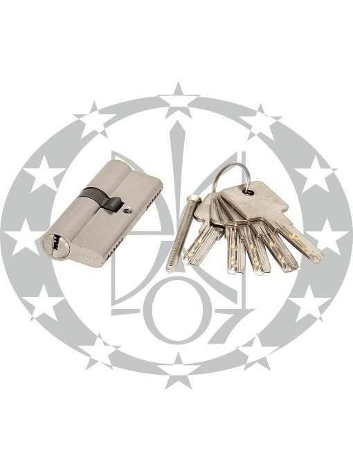 Серцевина GERDA H-PLUS 35/40 горизонтальний ключ нікель сатин