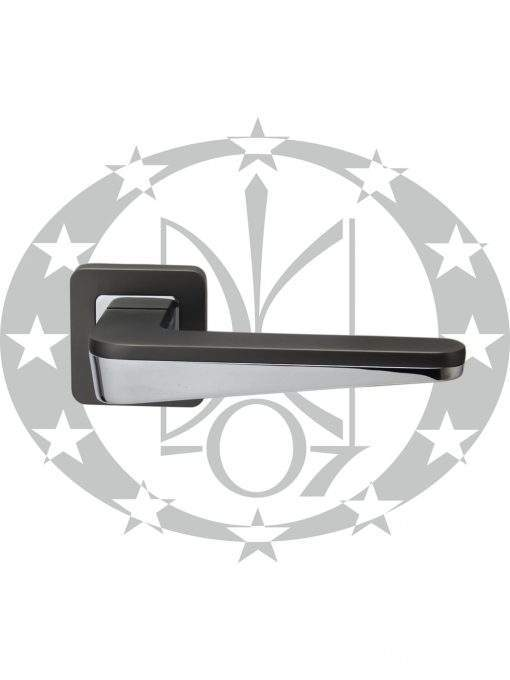 Ручка Metal-Bud DUO (ZDUZG) розета графіт/хром