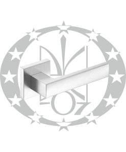 Ручка Metal-Bud CUBE (ZCUKCM) квадратна розета хром сатинований