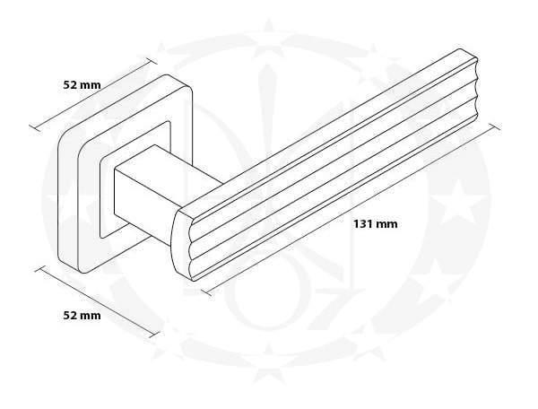 Ручка Metal-Bud MALIBU (ZMAZP) креслення