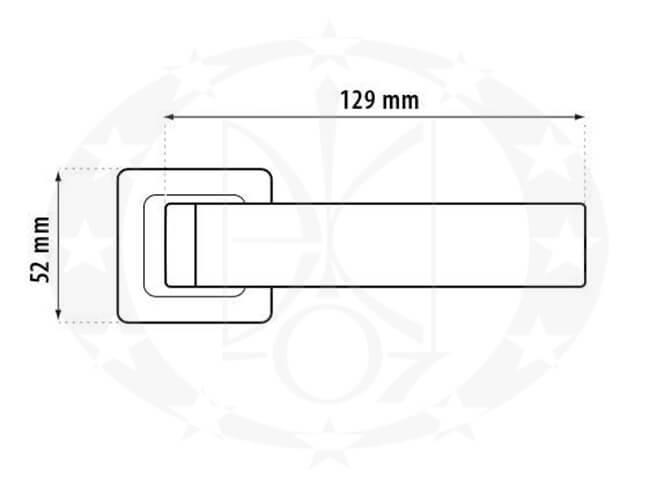 Ручка Metal-Bud MONDO (ZMOZN) креслення розміри
