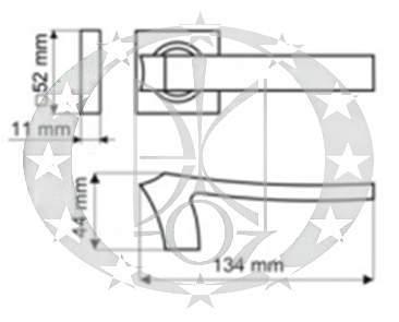 Ручка Gamet IMPERA DH-04-22-07-KW креслення