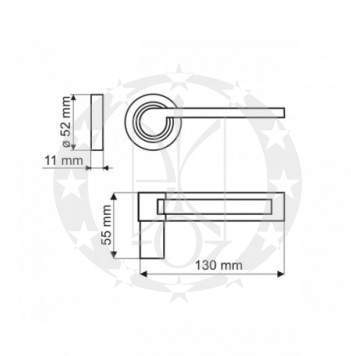 Ручка Gamet ANDROMEDA DH-07-22-04 креслення