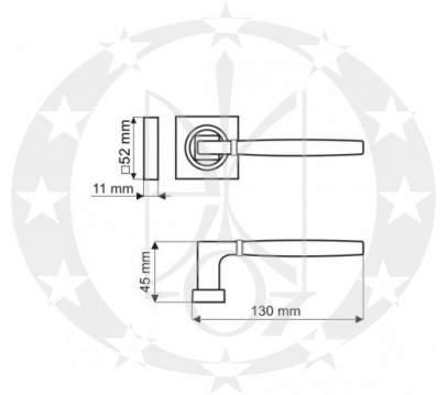 Ручка Gamet LYRA DH-09-22-AB-KW креслення